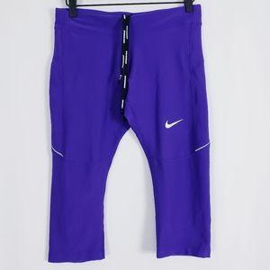 Nike Dri-Fit purple cropped/capri leggings sz Med